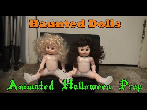 Haunted Dolls Animated Halloween Prop Super Cheap and Easy