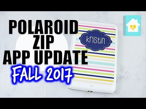 POLAROID ZIP APP UPDATE | HOW TO USE THE APP AND PRINT