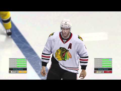 NHL 14 - Demo: Big Hit at Bench Leads to Fight!