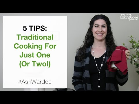 5 Tips — Traditional Cooking For One Or Two | #AskWardee 115
