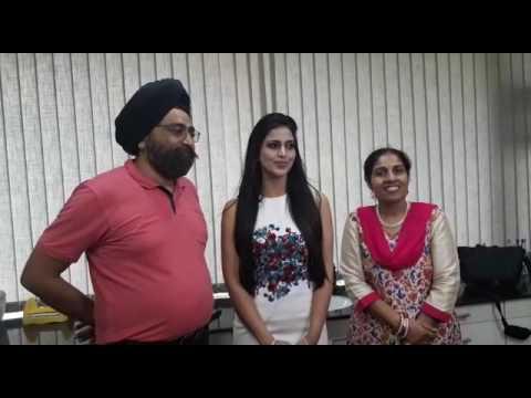 Leading Tamil and Telgu movies Actress  Samaira Sandhu at The Perfect Smile Dental Clinic
