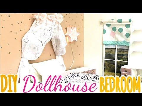 DIY: girly dollhouse bedroom (bed/ desk/ dresser/etc)