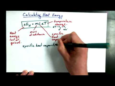 3 6D How to Calculate the Heat Energy that a Mass Has
