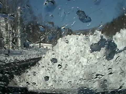 Nancy Today: Use Ice to Clean off the windshield WV 2 ASMR Cleaning