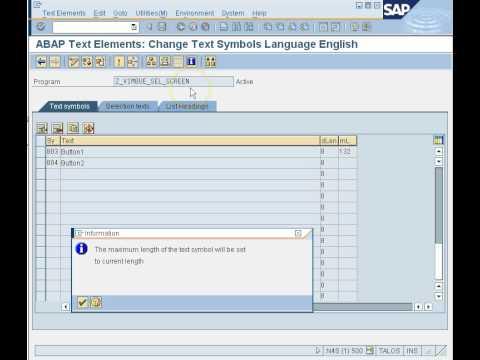 SAP ABAP Selection Screen Part-2