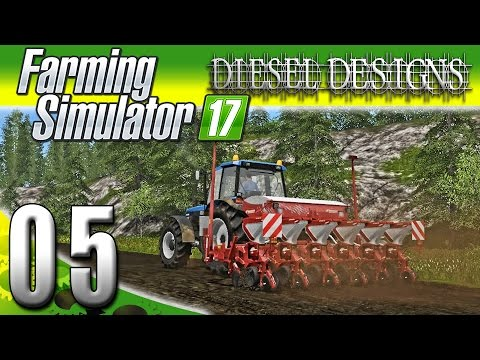 Farming Simulator 2017 Gameplay :EP5: Corn Sower!  Planting Corn! (PC HD Goldcrest Valley)