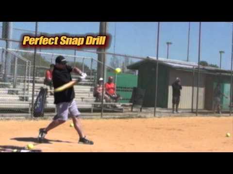 Softball Hitting. Simple Drill teaches Perfect Wrist Snap.Pros discuss snapSM#19
