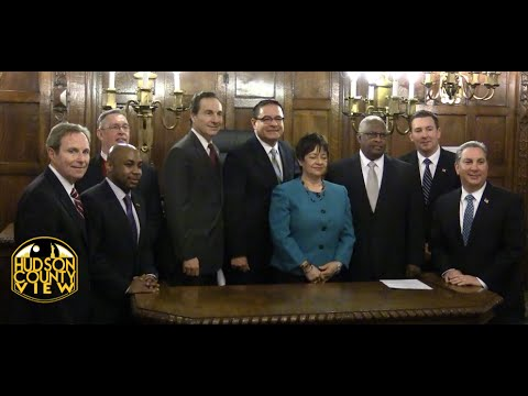 Four new Hudson County Freeholders sworn in, Maldonado named 2015 chairman