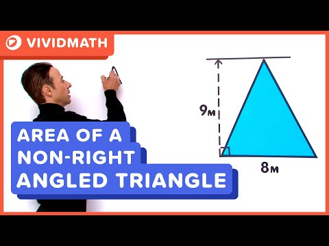 Area Of A Non Right Angle Triangle - VividMaths.com