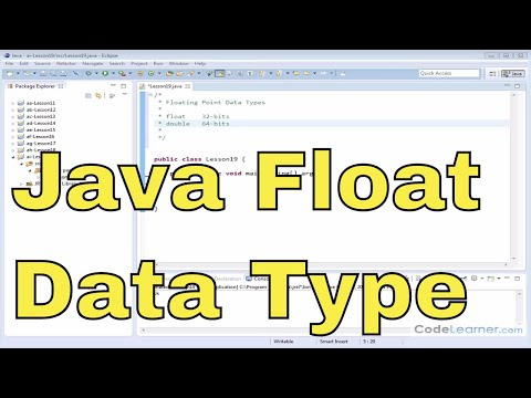 19 - More Floating-Point Data Types in Java (Float and Double)