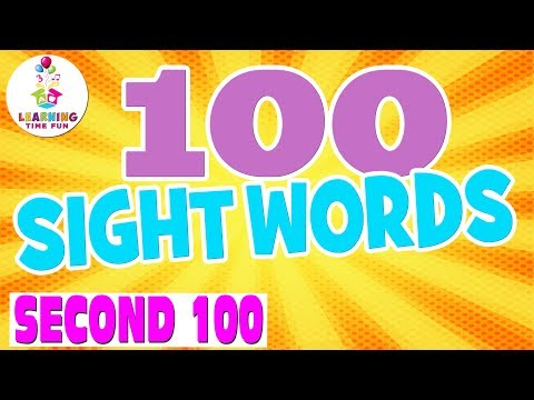 100 Sight Words for Kids | Learning Time Fun | Sight Words | Popcorn Words | High Frequency Words