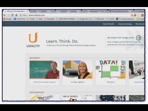 Video Tour of Udacity: Free College Courses Online