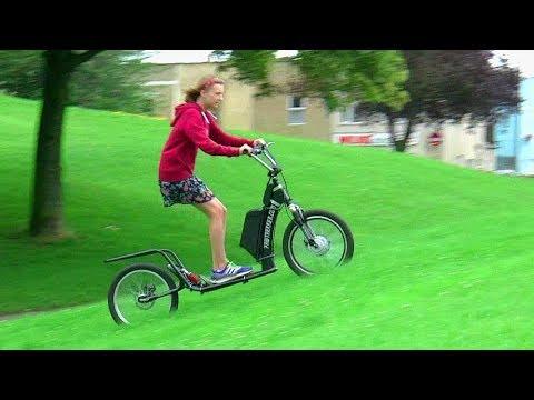 Electric Dog Scooter, Adult Kick Scooter, Kick Bike, eBike, Pawtrekker, Swifty.