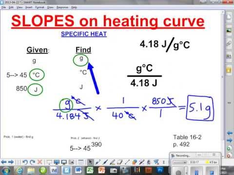 Solving Specific Heat, Heat of Fusion and Heat of Vaporization problems