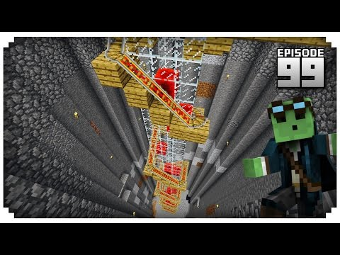 Let's Play Minecraft PE - Ep.99 : Automatic Minecart Elevator [0.14.0]