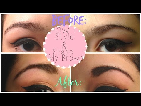 How I style and shape my brows!