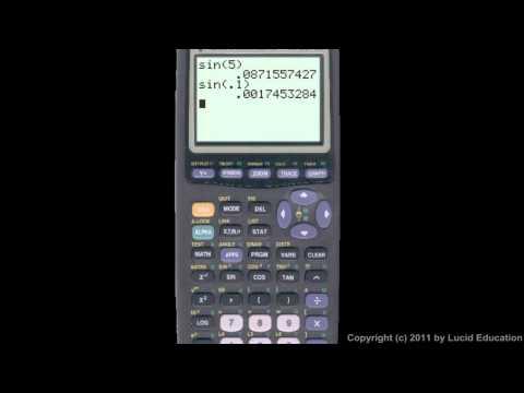 Algebra 2  11.07f - Sine and Cosine on the Calculator