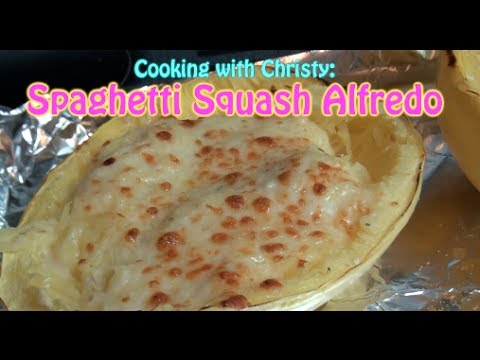 Spaghetti Squash Alfredo - Cooking with Christy