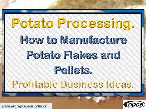 Potato Processing. How to Manufacture Potato Flakes and Pellets
