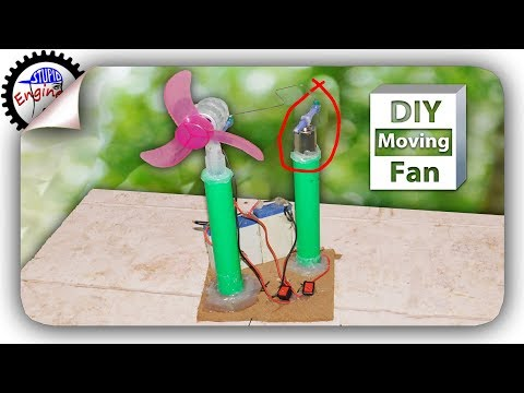 DIY moving table fan |  how to make a moving table fan | homemade mini moving fan | stupid engineer