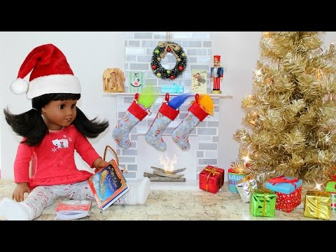 DIY American Girl Doll Fireplace