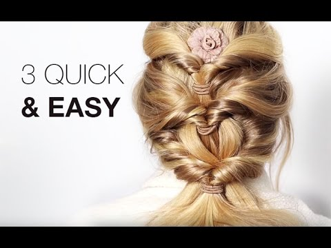3 Quick & Easy Hairstyles - With Hair Extensions