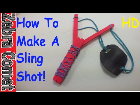 How To Make A Sling Shot Out Of Popsicle Sticks (Simple And Easy Toy Weapon)
