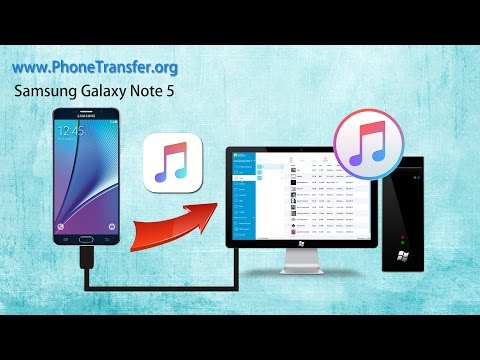 How to Sync Music from Samsung Galaxy Note 5 to iTunes, Galaxy Note 5 Songs to iTunes