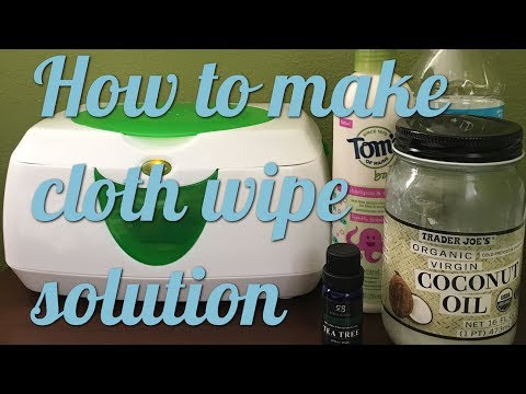 Quick and easy cloth wipe solution recipe.
