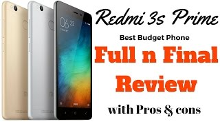 Hindi | Redmi 3s Prime Full n Final review with Pros n Cons | Sharmaji Technical