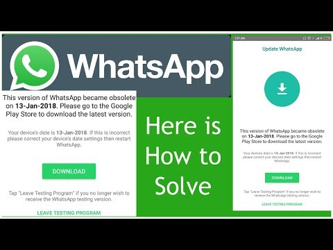 How to Fix WhatsApp Obsolete Bug Error in Android Smartphone