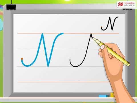 Cursive Writing | Capital Letter 'N' | Macmillan Education India