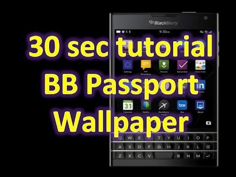 How to change the Blackberry Passport Wallpaper
