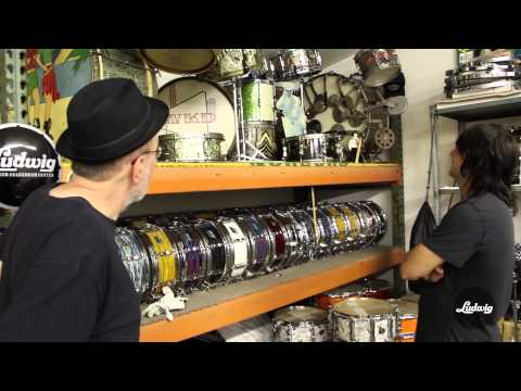 Bun E. Carlos gives a tour of his impressive Ludwig Drum collection