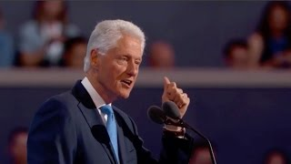 Bill Clinton offers loving tribute to Hillary at DNC 2016 (Full speech)