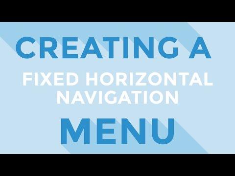HTML & CSS : Creating a fixed horizontal navigation menu