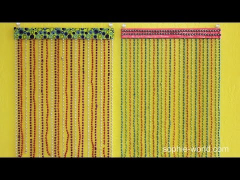How to Make a Beaded Curtain for Your Locker | Sophie's World