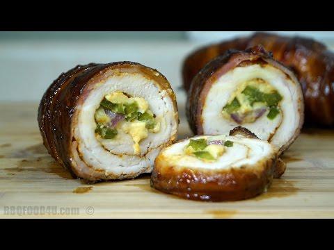 Chicken Bacon Roll Recipe - BBQFOOD4U