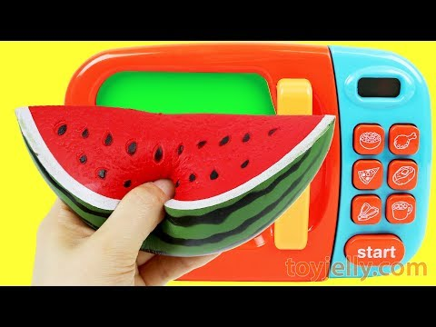 Feeding Baby Doll Food Learn Fruit Names Squishy Toys Cutting Fruit Blender Microwave Toy Playset