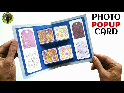 Photo Popup card | Scrapbook - DIY Tutorial - 900