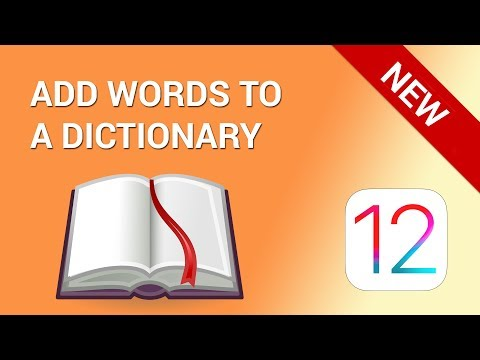 How to add words to iPhone dictionary (iOS 12)