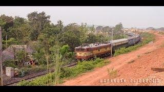 Kendujhar-Bhubaneswar Fast Passenger negotiates a curve Before Barang Jn