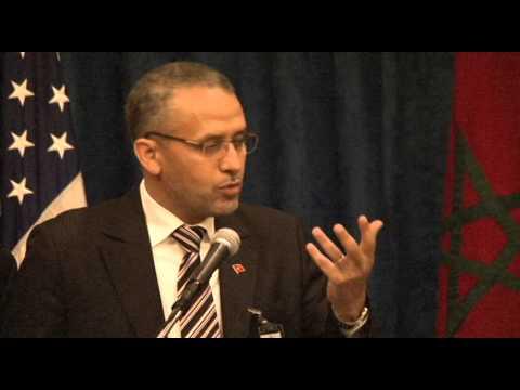 الحبيب الشوباني خلال المؤتمر السنوي الاول  للائتلاف المغربي الأميركي  بواشنطن