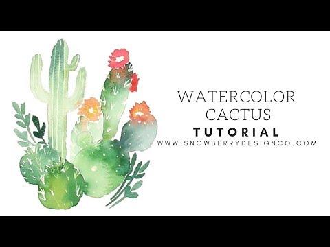 How to Paint Watercolor Cacti   Beginner Tutorial