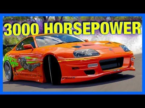 Forza Horizon 3 : 3000 HORSEPOWER SUPRA TEST DRIVE!!