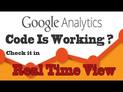 Google Analytics- Check Analytics Tracking Code Is Working Or Not