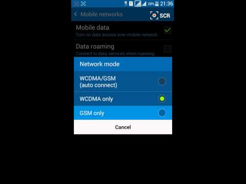 How To Change Network Mode on Samsung Galaxy