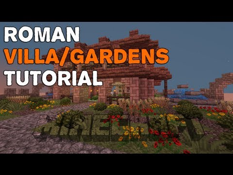 Minecraft | Roman Villa/Gardens | Tutorial