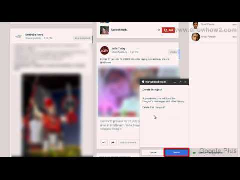 Google+ - How To Delete A Hangout