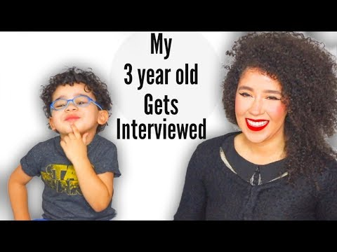 Interview With My 3 Year Old   Funny Things Kids Say   Kid With Glasses